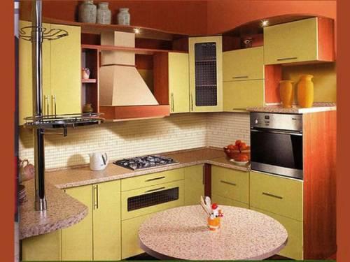 кухонный гарнитур для маленькой кухни.